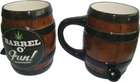 Ceramic Barrel-O-Fun Water Pipe Mug - 8oz