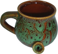 Ceramic Speckled Glaze Mug Pipe - 8oz