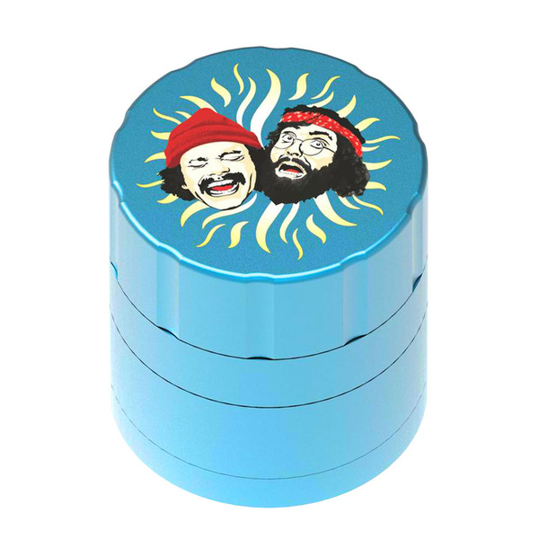 Cheech & Chong 40th Anniversary Grinder | Aqua | Wholesale Distributor
