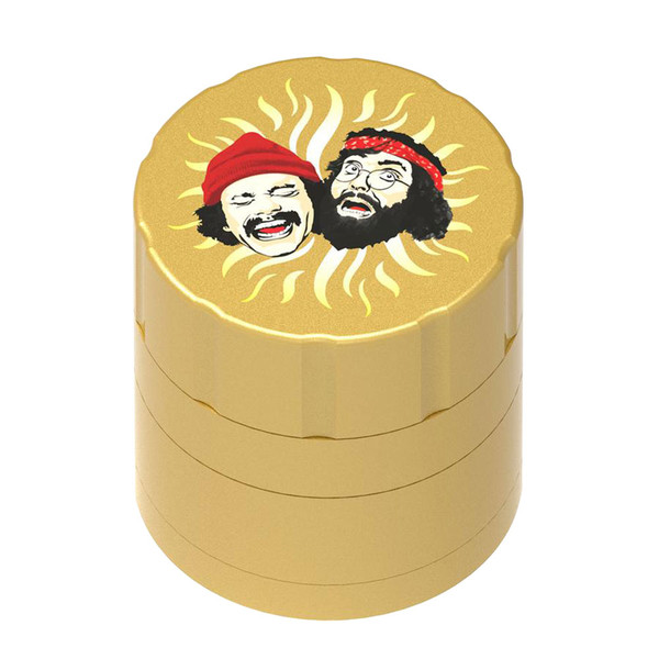 Cheech & Chong 40th Anniversary Grinder | Gold | Wholesale Distributor
