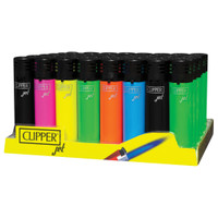 Clipper Jet Refillable Lighters Display | Glossy Brights | Wholesale