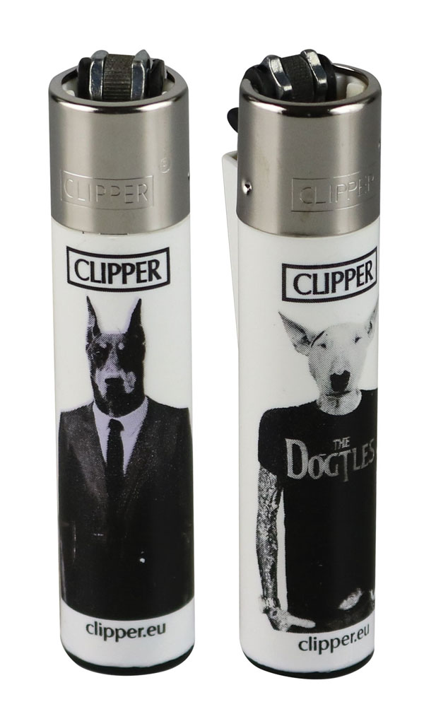 48 x Clipper Lighters DOGGIES full size with Display