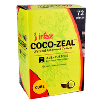 Coco-Zeal Natural Coconut Charcoal Cube Tablets | 72pc | Wholesale