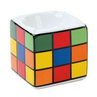 Colorful Puzzle Cube Design Ceramic Ashtray | Wholesale