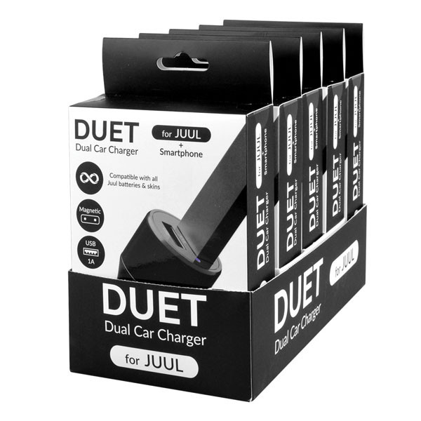 DUET Dual Car Charger for JUUL - 5pc Display