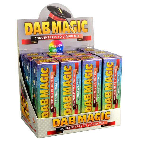 Dab Magic 15ml Concentrate to E-Juice Mix - 12pc Display | Rainbow