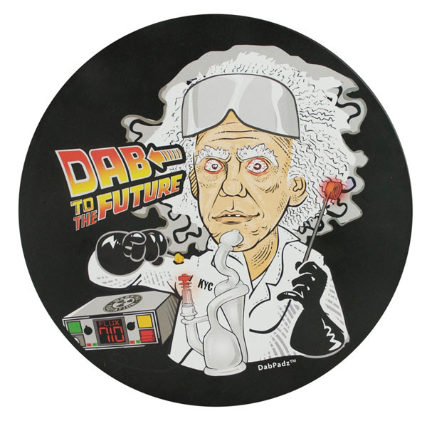DabPadz Round Fabric Top - 5 / Dab to the Future - AFG Dist