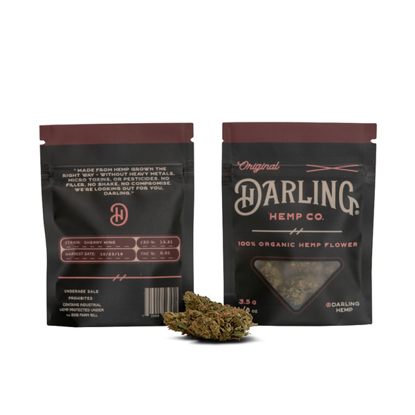 Darling Hemp Flower - 3.5 Gram | Cherry Wine | Wholesale