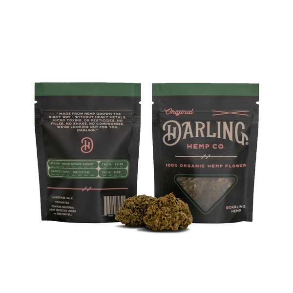 Darling Hemp Flower - 3.5 Gram | Sour Space Candy | Wholesale