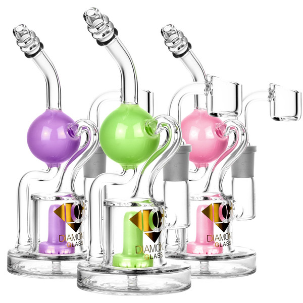 Diamond Glass Buoy Recycler Rig | Wholesale Distributor