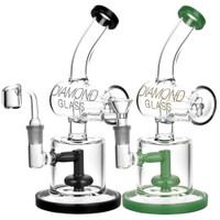 Diamond Glass Diamond Inline Perc Oil Rig | Wholesale Distributor