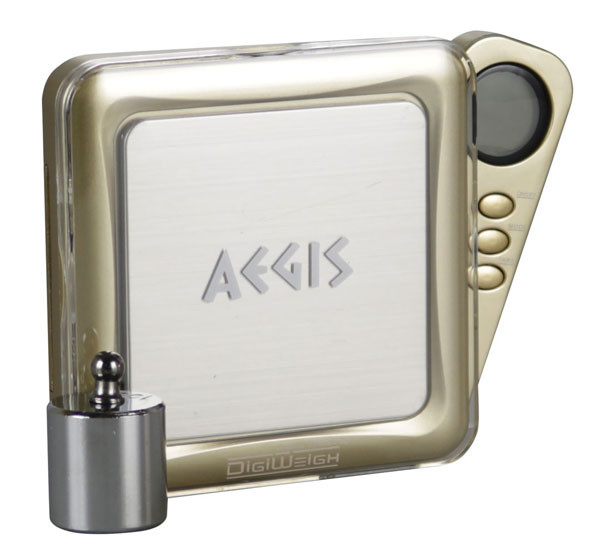 DigiWeigh Aegis Series Scale w/ Weight - 100gx0.01g | Gold