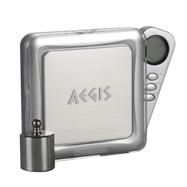 DigiWeigh Aegis Series Scale w/ Weight - 100g x 0.01g | Silver