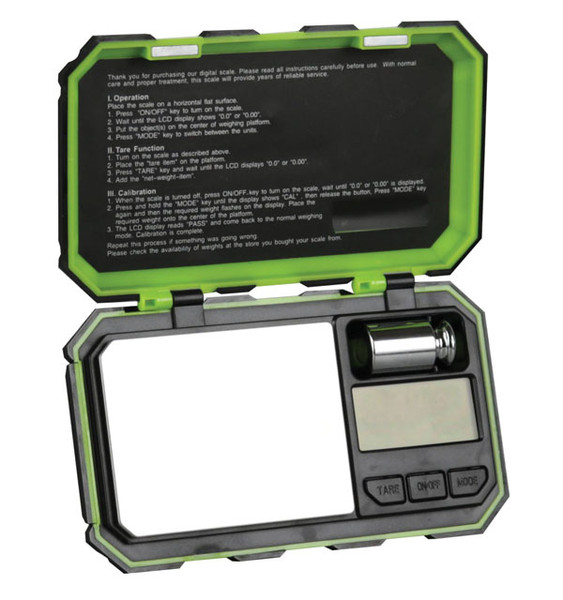 DigiWeigh Cyber Series Scale - 100gx0.01g | Black/Green