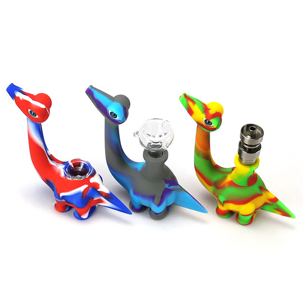 Dinosaur Silicone Hand Pipe - 5"