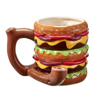Double Cheeseburger Ceramic Pipe Mug | Wholesale Distributor