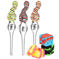Double Donut Candy Swirl Dab Straw | Wholesale Distributor