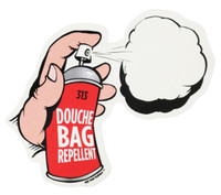 "Douche Bag Repellent Sticker - 5""x3.25"""