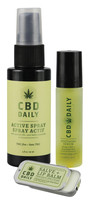 Earthly Body CBD Daily Gift Set (Salve, Lip Balm, Serum)