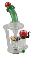 "Empire Glassworks Mini Recycler Rig - 7.5"" / Mushroom"