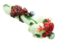 "Empire Glassworks Spoon Pipe - 6"" / Ribbit"