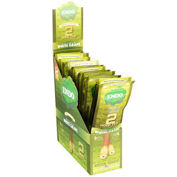 Endo Pre-Rolled Hemp Wraps | White Grape | Master Distributor