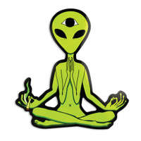 Enlightened Extraterrestrial Smoking Sticker | Wholesale Distributor