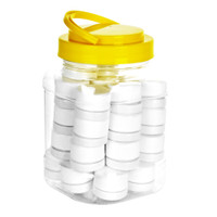 Fancy Child Resistant Glass Concentrate Jar | White | Display