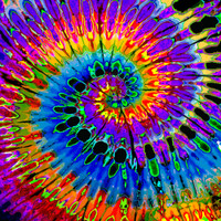 Feed A Hippie Tie Dye Tapestry | First Spiral | Wholesale