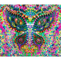 Feed A Hippie Tie Dye Tapestry | Fractal Butterfly | Wholesale