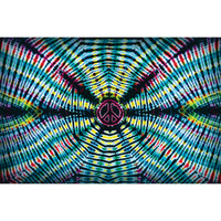Feed A Hippie Tie Dye Tapestry | Peace Wave | Wholesale