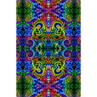 Feed A Hippie Tie Dye Tapestry | Rainbow Om | Wholesale