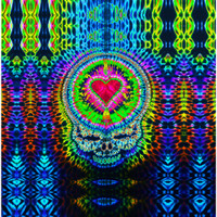 Feed A Hippie Tie Dye Tapestry | Steal Your Heart V2 | Wholesale