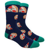 FineFit Novelty Socks | Pizza Slices | Navy | Wholesale Distributor