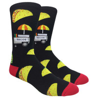 FineFit Novelty Socks | The Taco Stand | Red | Wholesale Distributor