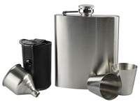 Flask Set - Stainless Steel / 7oz - AFG Distribution