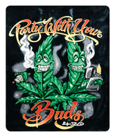 "Party With Your Buds Fleece Blanket - 76""x92"""