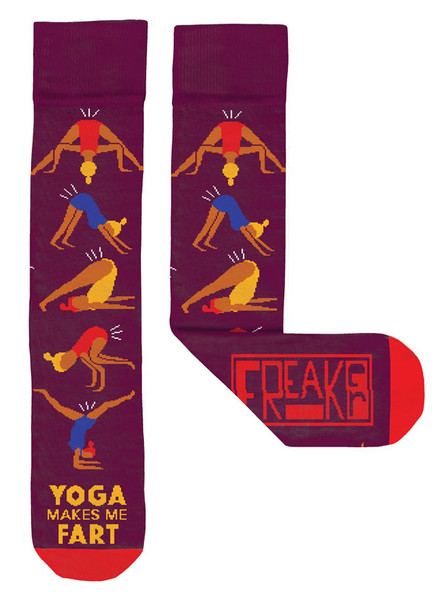 Freaker Socks - Yoga Makes Me Fart