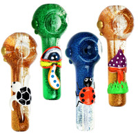 Freezable Glycerin Glitter Glow Spoon Pipe | Wholesale
