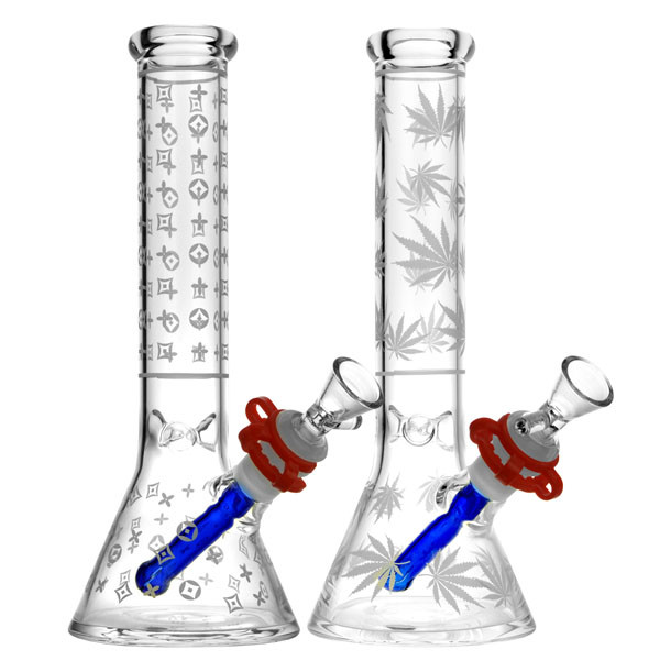 Frosted Design Beaker Water Pipe - 10"