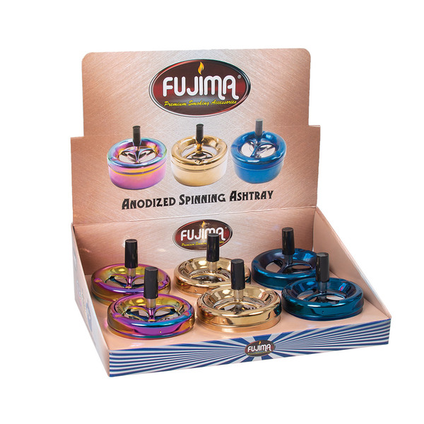Fujima Anodized Spinning Ashtrays | Wholesale Distributor