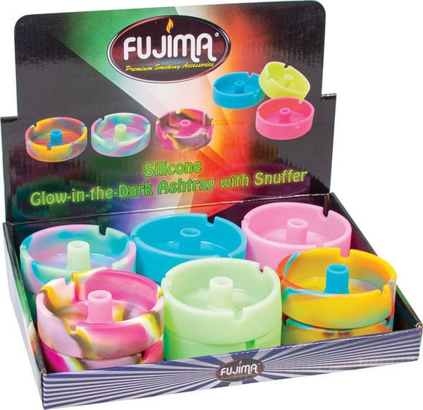 Fujima Glow Silicone Snuffer Ashtray - 3.5"