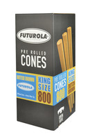 Futurola Kingsize Cones - 109mm/26mm | 800pc Box | Brown