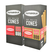 Futurola Reefer Size Cones - 98mm/26mm | 800pc Box