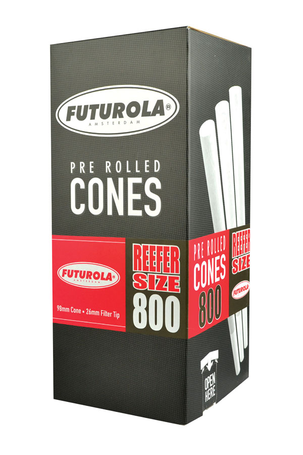 Futurola Reefer Size Cones - 800pc Box | White