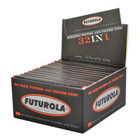 Futurola Rolling Paper w Tips - King Slim | 26pc