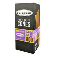 Futurola Slim Size Cones - 98mm/26mm | 800pc Box | Brown