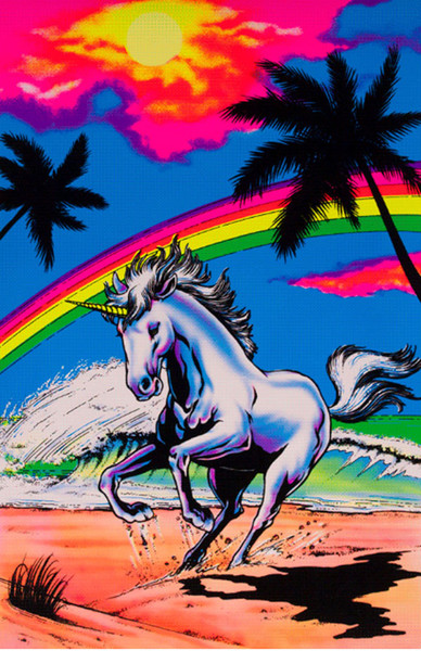 "Galloping Unicorn Blacklight Poster - 23""X35"""