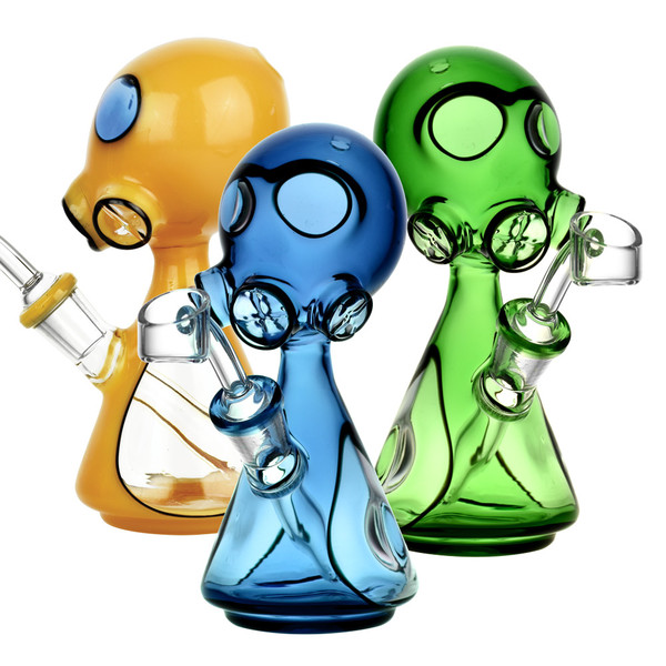 Gas Mask Dab Rig | Scientific Glass | Wholesale Distributor