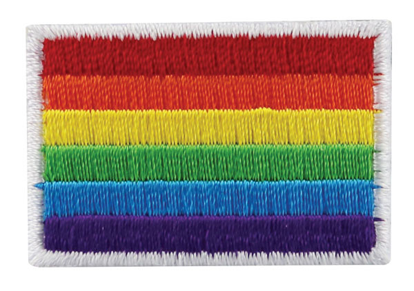 "Gay Pride Rainbow Patch - 1.5""x1"" / Small"